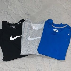 Lot of 3 Nike Cotton Dry-Fit Tees